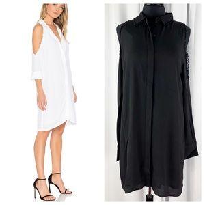 REVOLVE ELLIATT Clarity Cold Shoulder Dress Black